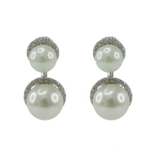 925 Sterling Silver Drop Earrings with Pearl