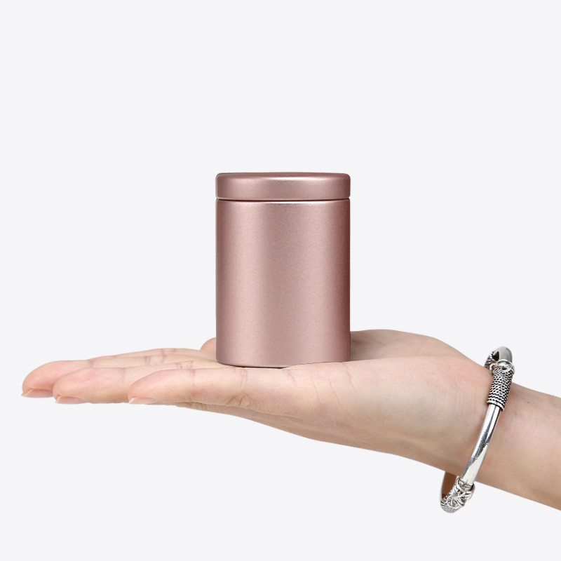 Rose Gold Round Square Small Tin Box