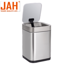 JAH Square Stainless Steel Smart Induction Garbage Bin