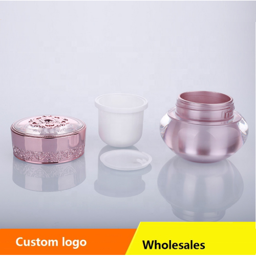 Pink CROWN and FLOWER Acrylic cosmetic jars
