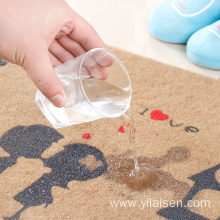 Waterproof entrance mat design with embroidered pattern