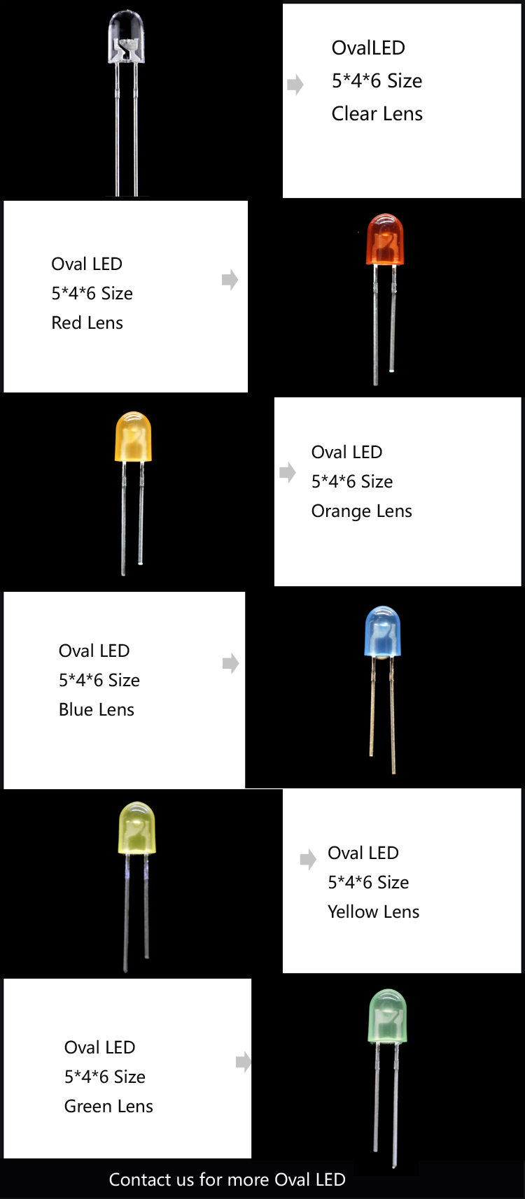 Oval LED - Through-hole LED