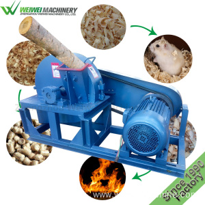 Weiwei 300kg/hr wood tree log shaving machine