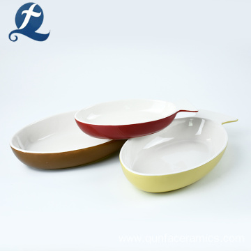 Wholesale Price Home Color Custom Fish Shaped Ceramic Plate