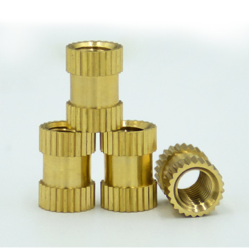 Customized press-in Brass Knurled Insert Thread Nuts