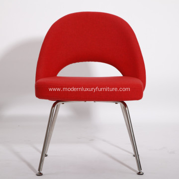 Red Contemporary Fabric Dining Chairs