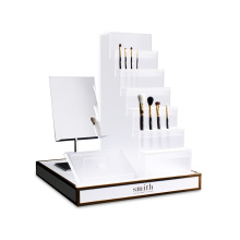 Apex White Acrylic Cosmetic Display Stand With Mirror