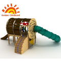 Log Wooden Climbing Slide