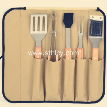 Hand in Hand With Cloth Bag Barbecue Tools