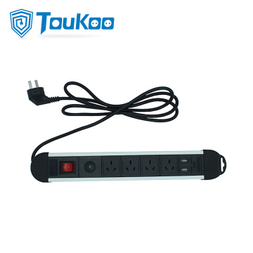 4 way Australian surge protector power strip