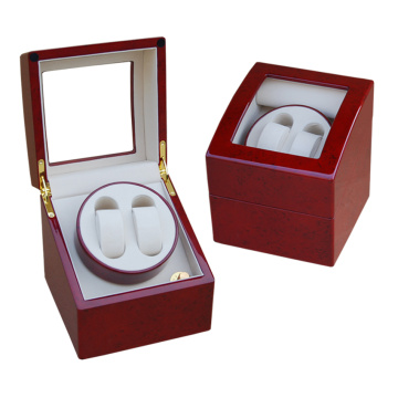 Red Wood Single Rotor Watch Winder