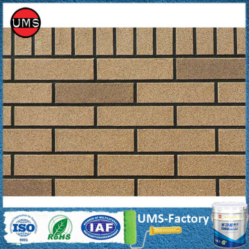 Spray paint brick for exterior wall