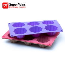 6-Cup Nonstick Silicone Baking Mold Muffin Pan Cupcakes