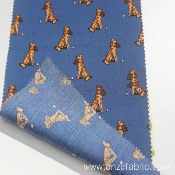Best italian cotton shirt printed woven poplin fabric