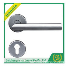 SZD STH-104 Popular Stainless steel door lever handles on plate/rose