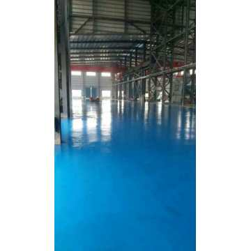Sky blue epoxy self-leveling