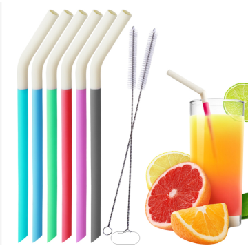 Multi Color Food Grade Silicone Reusable Drinking Straws