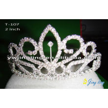Small size cheap tiaras crystal wedding crowns