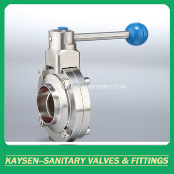 SMS Sanitary manual butterfly valve
