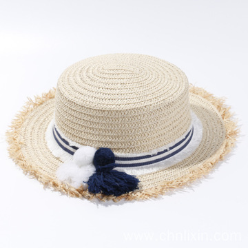 Portable custom tassels felt straw hat wholesale