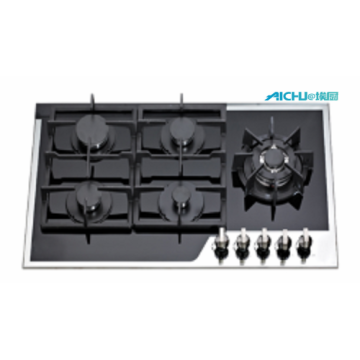 5 Burners Tempered Glass Kitchen Gas Cooktop