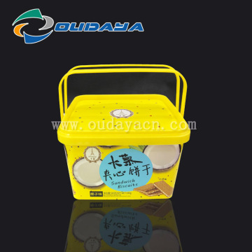 Tamper evident cookies container