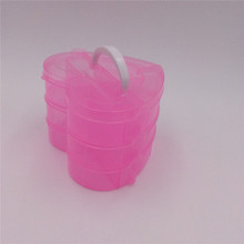 handle heart plastic jewelry storage boxes