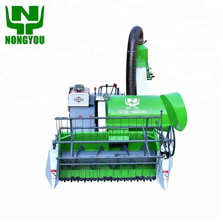 Small Paddy Rice Wheat Combined Harvester
