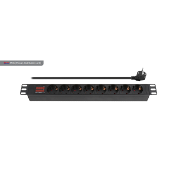 8 Way European PDU with display