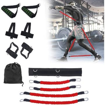 Body Exercise Resistance Band Set Leg Strength Boxing Training Jump Fitness Crossfit Pull Rope Booty Bouncing Trainer Set