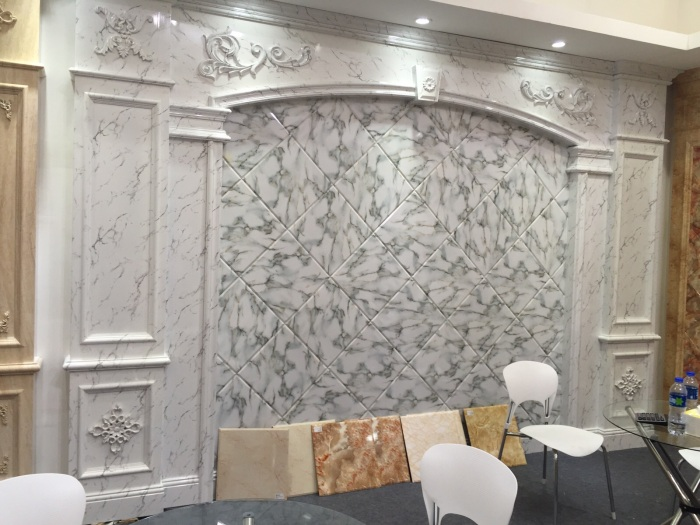 Interior Wall Decoration Artificial PVC Marble Panel