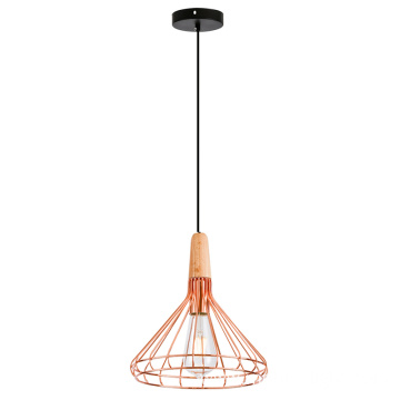Wooden Metal shade pendant Light M size