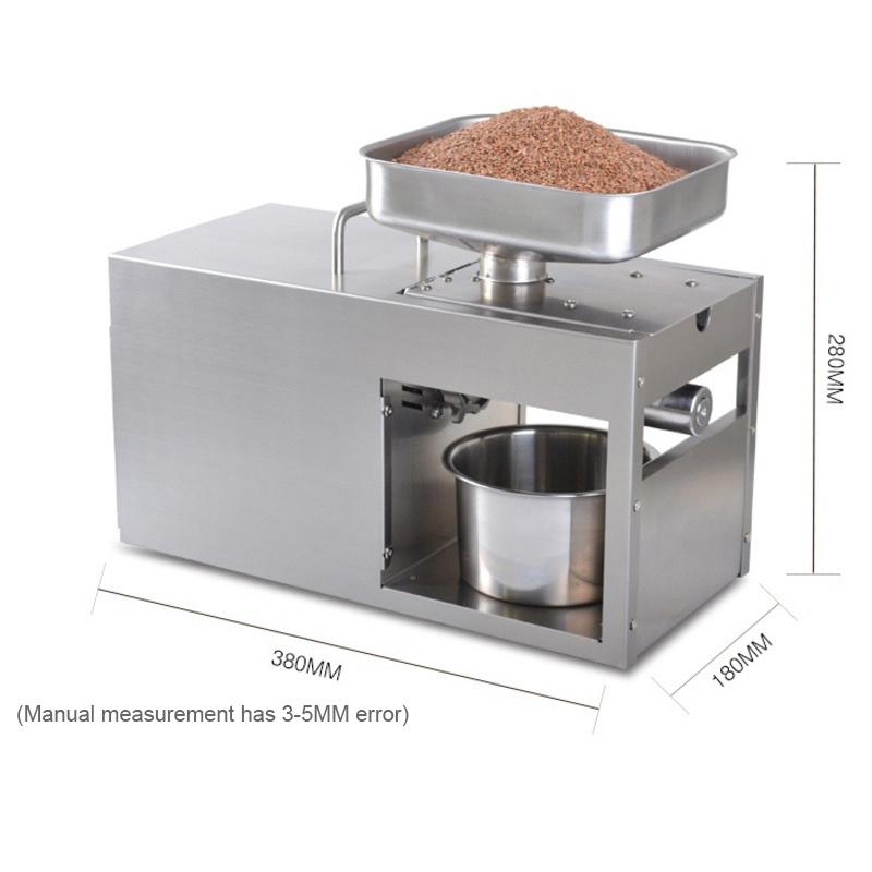 YTK LTP208 Automatic Coconut Olive Oil Press Machine Household peanut FLaxseed Oil Extractor Peanut Cold Hot Oil Press1500W(max)