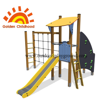 Panel Net Slide Outdoor Playground Equipment For Sale