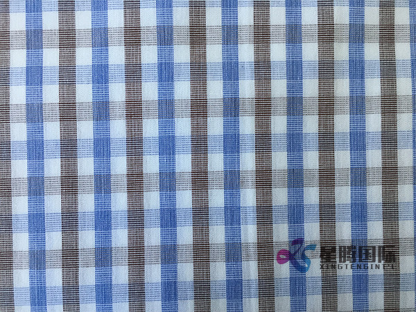 Checked Cotton Fabric For Shirt