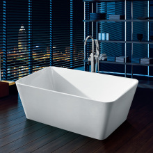 White Acrylic Soaking Freestanding Bathtub