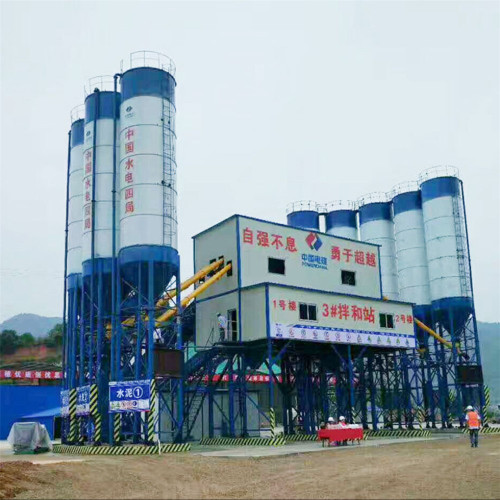 Electric towable concrete mixer concrete batching plant