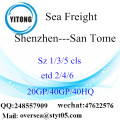 Shenzhen Port Sea Freight Shipping To San Tome