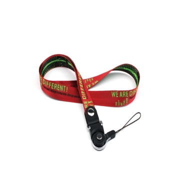 Promotional different length keys lanyards with logo pattern