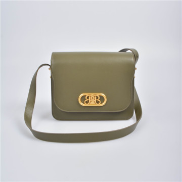 Square Shape Crossbody Bag in Leather