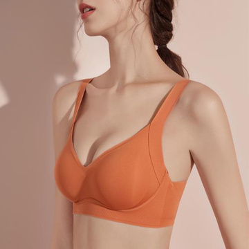 Padded seamless bra made by free cut fabric