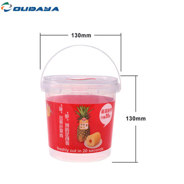 Wholesale tamper evident container with lid handle