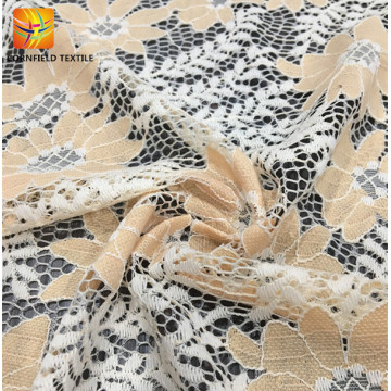 Wholesale comfortable printed lace textile fabric