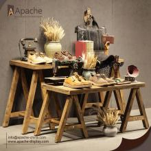 Wooden Multi-size Clothing Store Display Table
