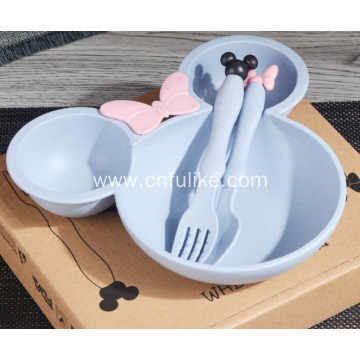 Wheat Straw Mickey Mouse Shape Dinnerware