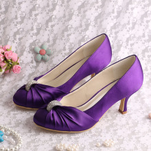 Purple Wedding Heels with Crystals