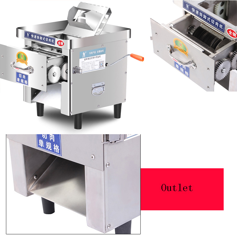 Commercial Meat Grinder For Cutting Shiitake Mushroom Slices Green Pepper Shreds Electric Meat Cutter Machine
