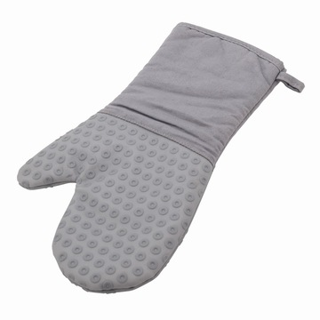 Long Cotton Silicon Glove Heat Resistant Grill Glove