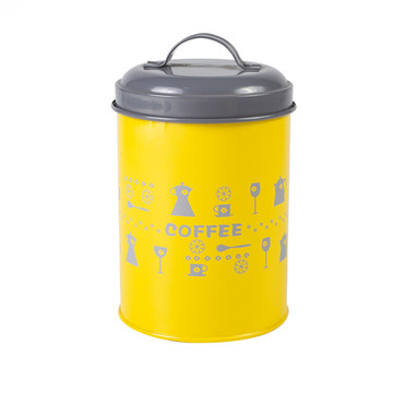 Lovello Yellow Kitchen Steel Canister Set