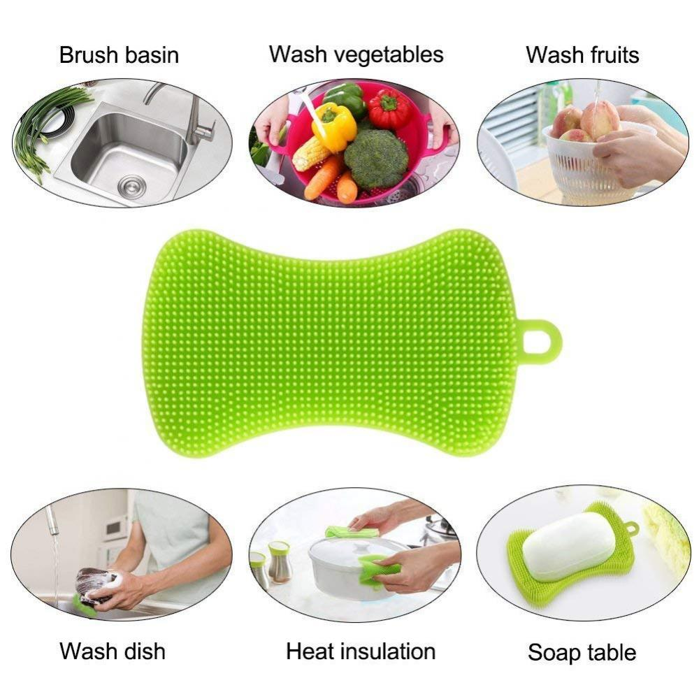 Multi-purpose Silicone Kitchen Cleaning Scrubber